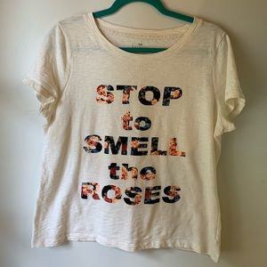 Talbots tee 'Stop to Smell the Roses'